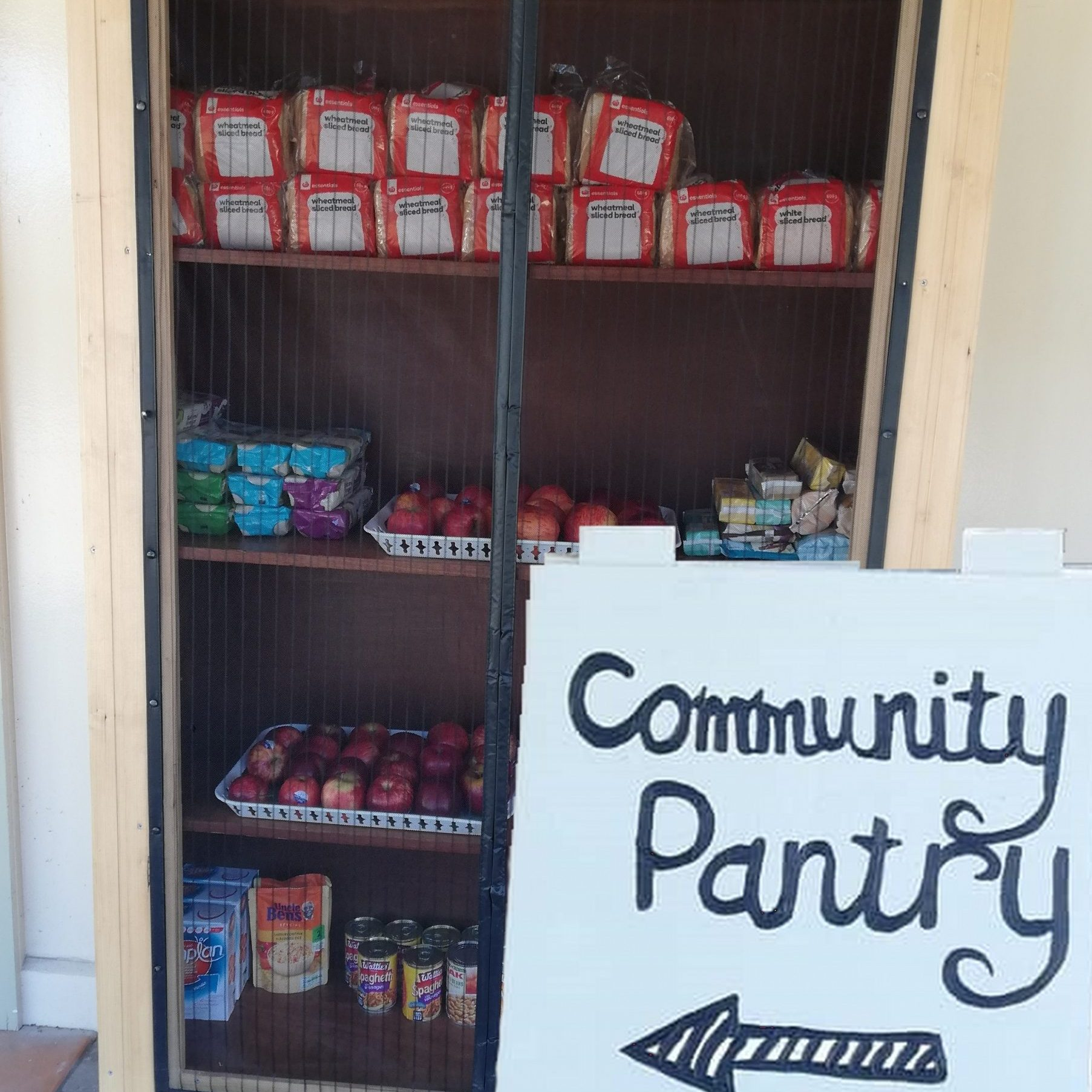 hybrid comm pantry & sign